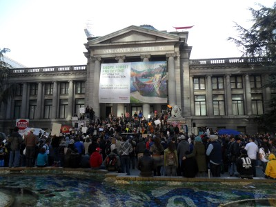 Occupy Vancouver outside the Vancouver Art Gallery (2011)