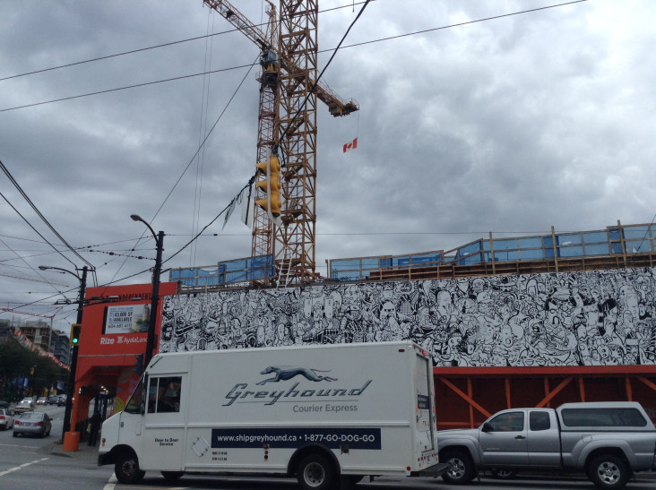 Mural at Rize Development, Main and Broadway (Photo courtesy of author)