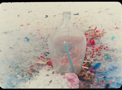 Julia Feyrer and Tamara Henderson, Bottles Under the Influence (still), 2012. 16mm film.