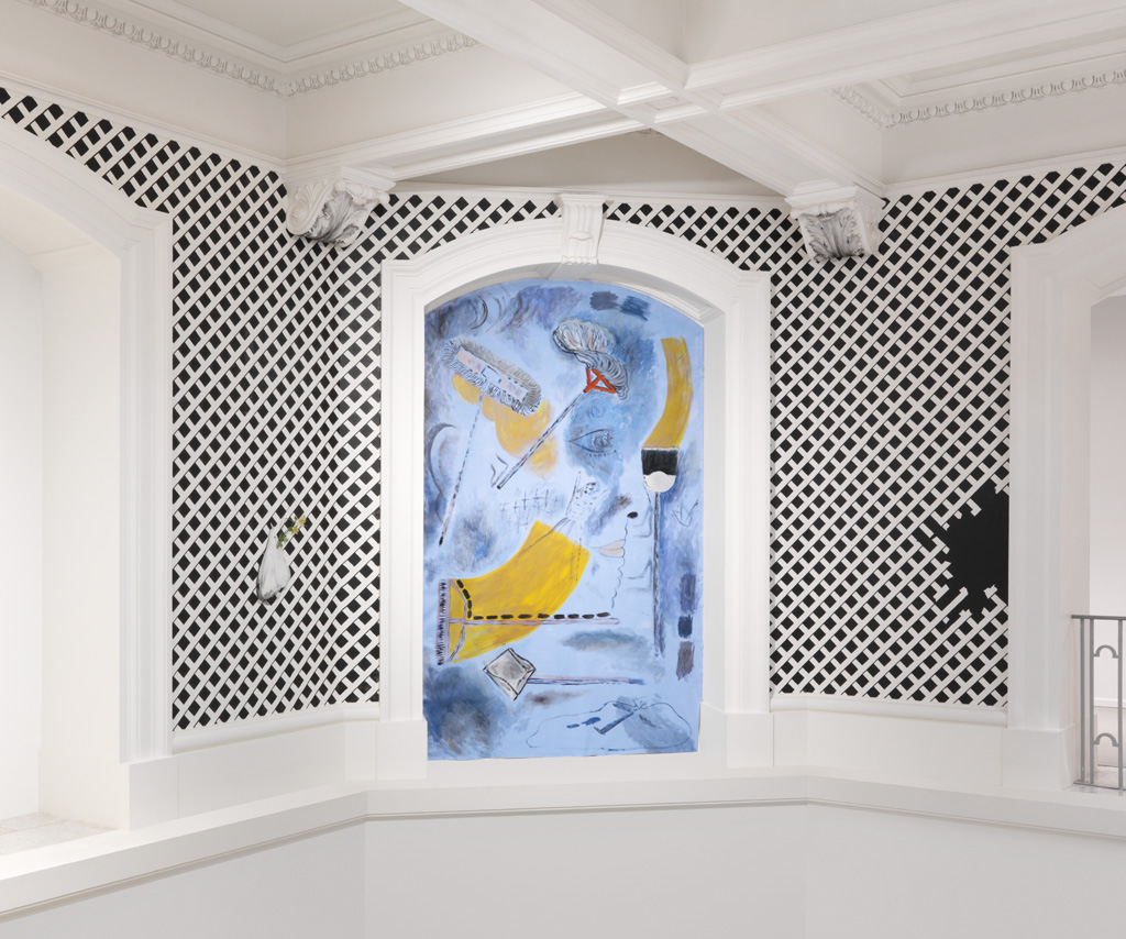 Installation view of Alison Yip Gazebo, 2016 site-specific mural at the Vancouver Art Gallery produced for Vancouver Special: Ambivalent Pleasures Courtesy of the Artist and Monte Clark Gallery Photo: Rachel Topham, Vancouver Art Gallery