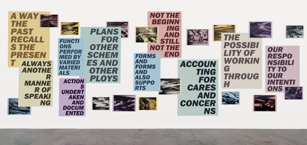 Raymond Boisjoly Author's Preface, 2015 ink jet prints, wheat paste Courtesy of the Artist and Catriona Jeffries Gallery Photo: Aurélien Mole, Triangle France