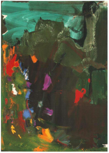 Hans Hofmann, ... And Thunderclouds Pass, 1961, oil on canvas, 212.7 x 153 University of California Berkeley Art Museum and Pacific FIlm Archive, Berkeley.