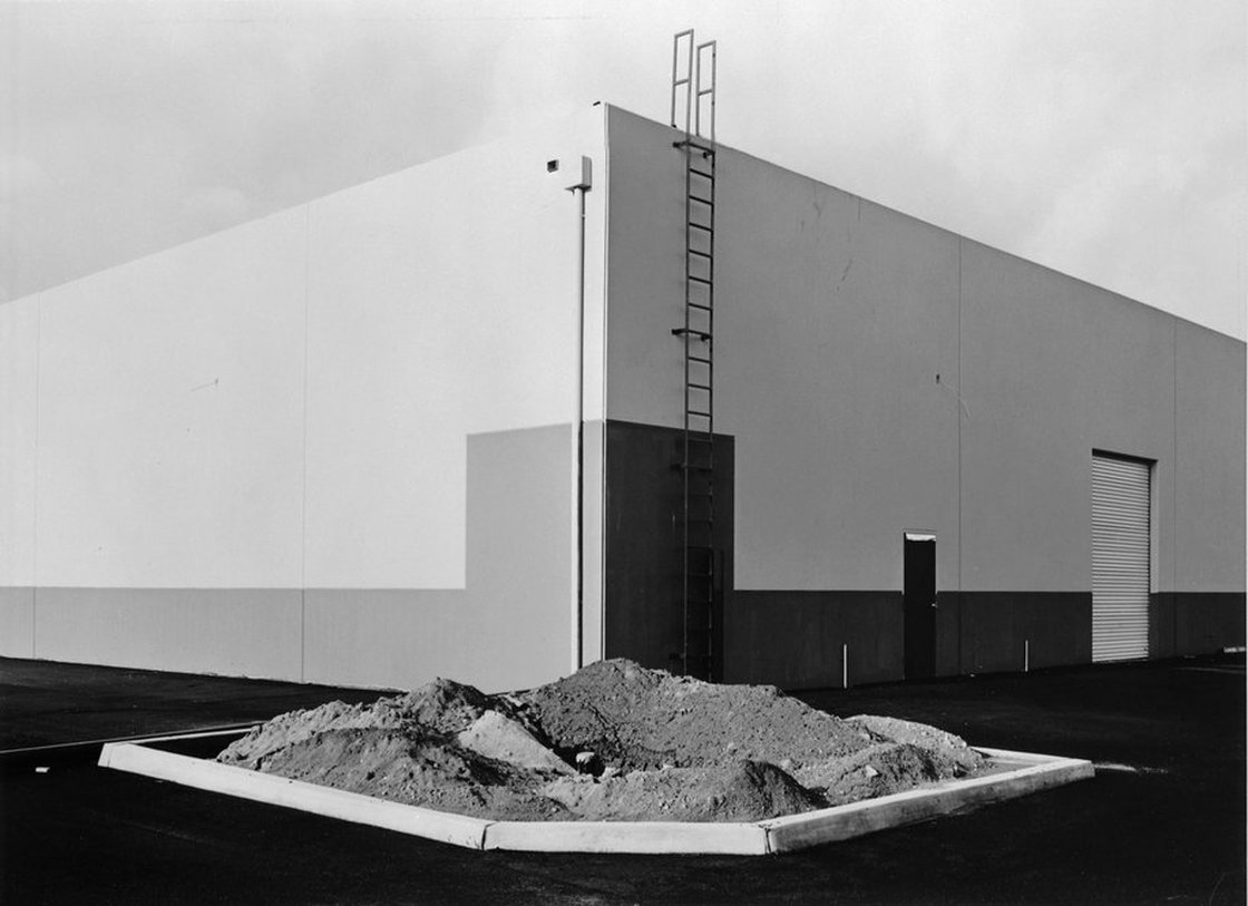 Lewis Baltz, South corner, Riccar America Company, 3184 Pullman, Costa Mesa, from the series, New Industrial Parks Near Irvine, California, 197