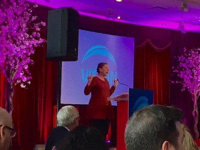 Judy Graves speaking at the Women of Vision Vancouver Dim Sum