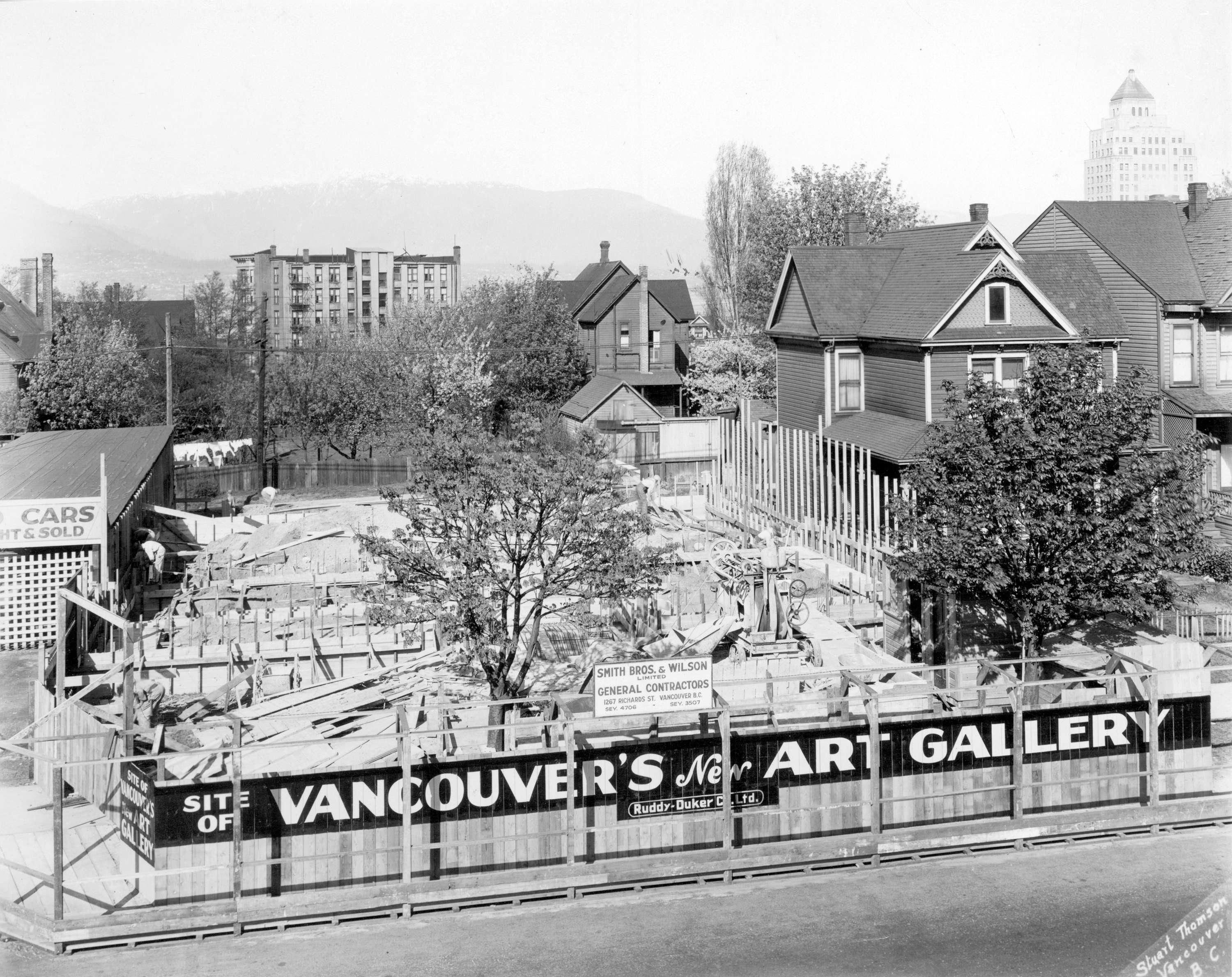 Vancouver Art Gallery under construction, 1931.  1145 W. Georgia Street. CIty of Vancouver Archives AM54-S4-: Bu P401.1