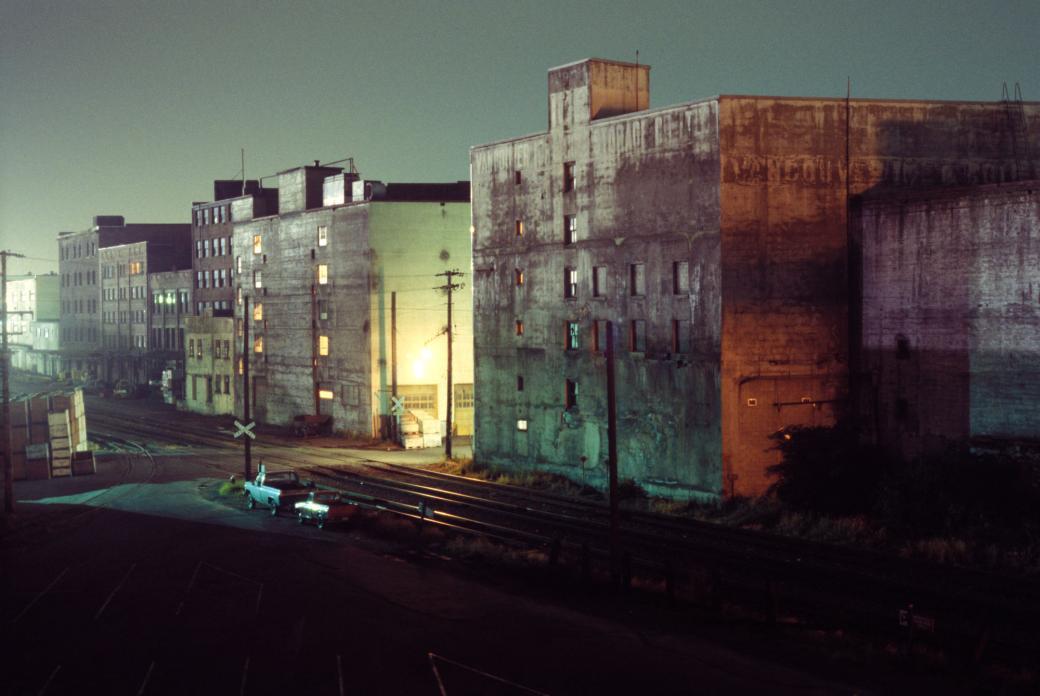 Greg Girard, Buildings on Railway Ave., 1975