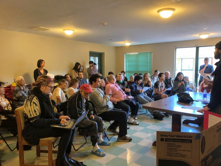 On April 10, 2019, Solheim tenants met with the landlord, S.U.C.C.E.S.S., where they presented the letter of demands with tenant signatures. (Nat Lowe)